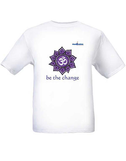 Tshirt 100% cotton - be the change