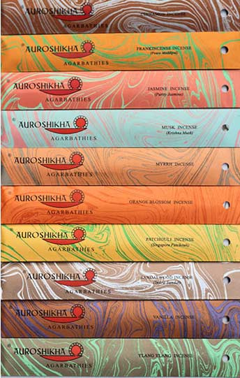 Incense - Auroshikha sticks (10 sticks per 10g packet)