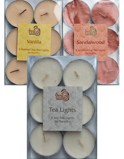 Soy candles - vanilla, sandalwood, or unscented