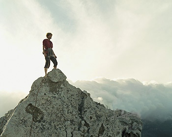Imagine yourself standing on top of a huge mountain  You are a    Girl Standing On Top Of A Mountain